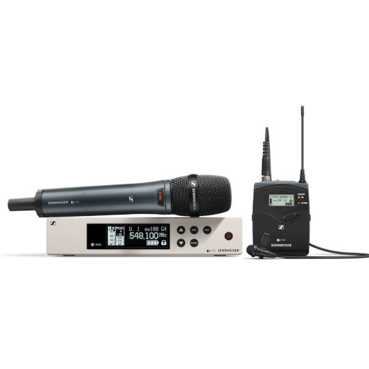 Sennheiser EW 100 G4-ME2/835-S Wireless Lavalier/Vocal Combo Set (Frequency Band A)