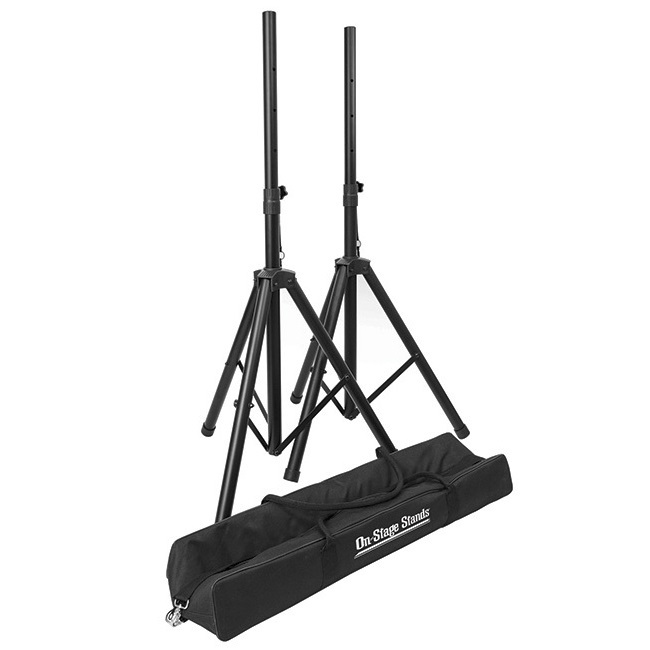 On Stage Compact Speaker Stand Pack with Pair of Speaker Stands & Carry Bag