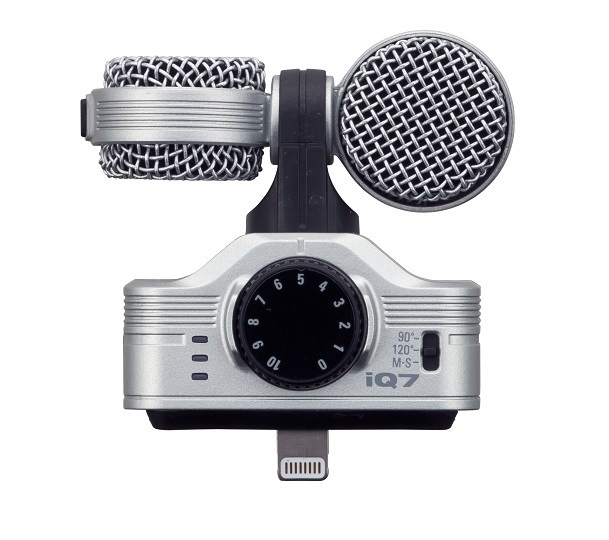 Zoom IQ7 MS Stereo Microphone for iOS devices with Lightning Connector