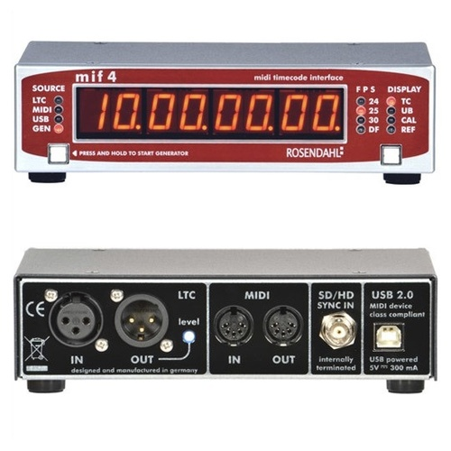 Rosendahl MIF4 - professional MIDI timecode interface