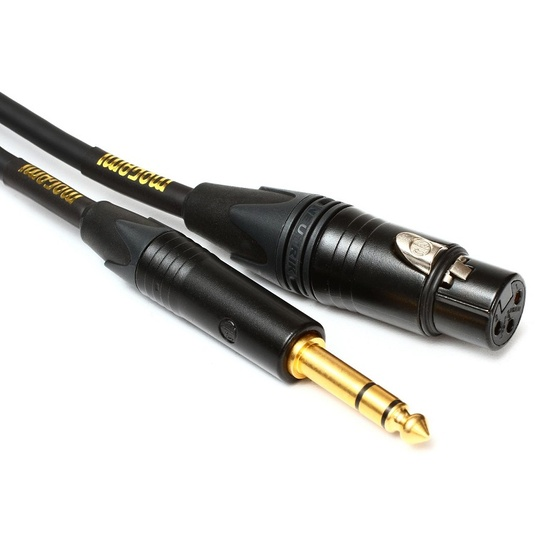 "Mogami Gold TRSXLRF-25 Balanced 1/4"" to XLR Female Patch Cable (25ft)"