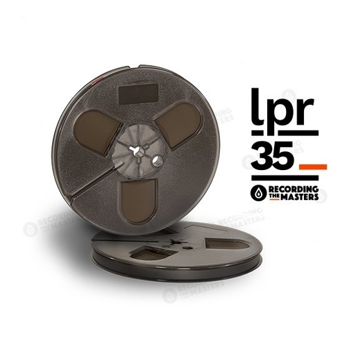 RTM LPR35 - ¼in, 7in plastic reel, trident hub, hinged box, 1800ft