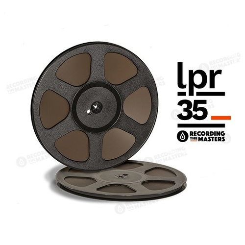 R LPR35 -   ¼in, 10½in plastic reel, trident hub, hinged box, 3608ft